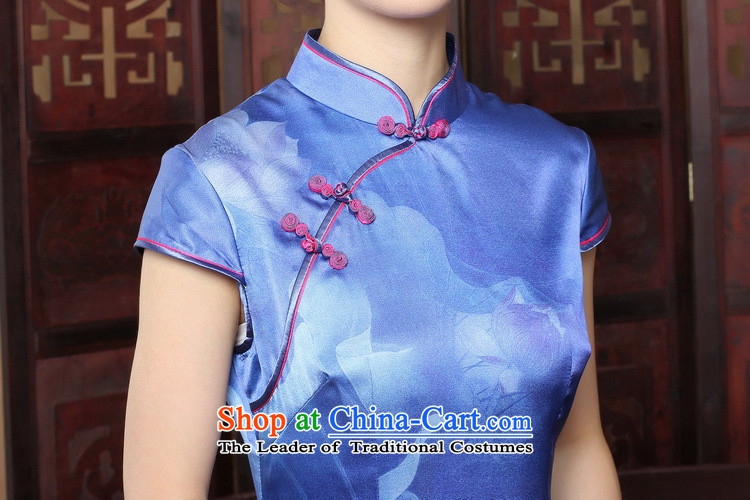 Dan聽2015 Summer smoke qipao Tang new for women Silk Cheongsam cheongsam dress herbs extract banquet female figure color聽M brand, prices, picture platters! The elections are supplied in the national character of distribution, so action, buy now enjoy more preferential! As soon as possible.