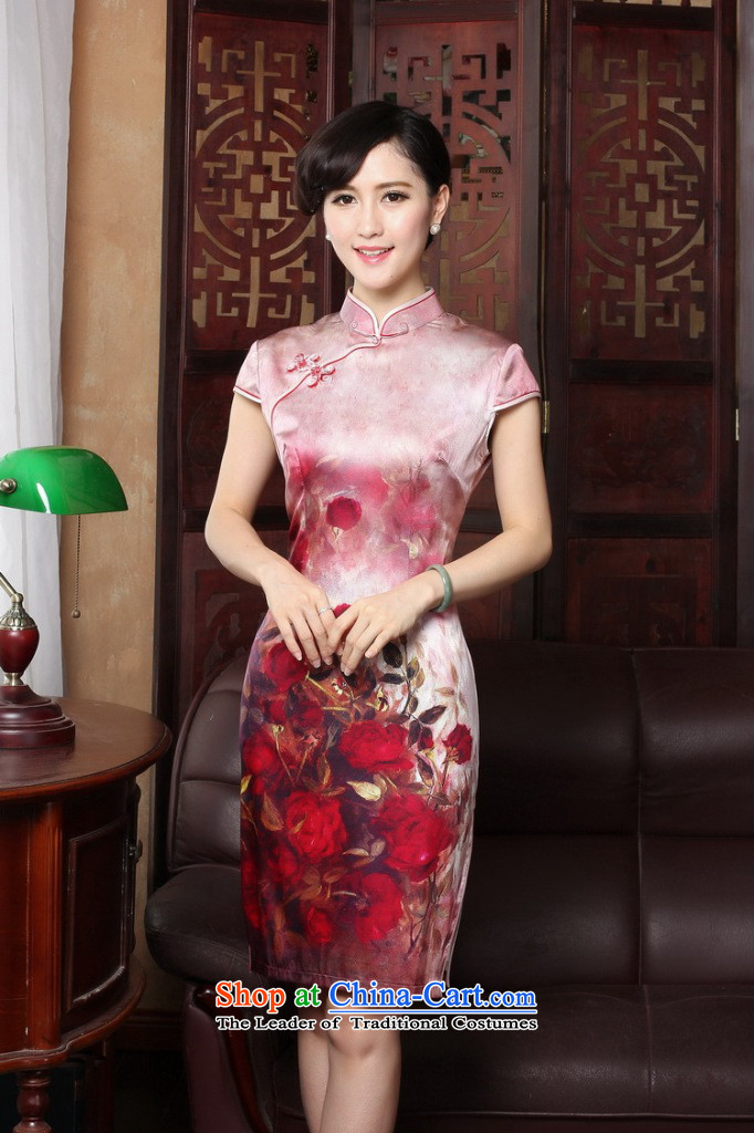Dan smoke聽rose by 2015 new herbs extract retro genuine heavyweight Silk Cheongsam short of summer female qipao color as shown聽pictures, prices, M brand platters! The elections are supplied in the national character of distribution, so action, buy now enjoy more preferential! As soon as possible.
