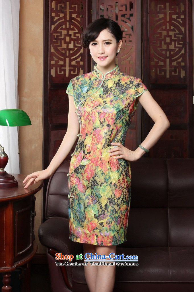 Dan smoke summer new cheongsam dress Tang Dynasty Chinese cheongsam dress improved collar lace thin cheongsam dress graphics Sau San Figure Color聽M brand, prices, picture platters! The elections are supplied in the national character of distribution, so action, buy now enjoy more preferential! As soon as possible.