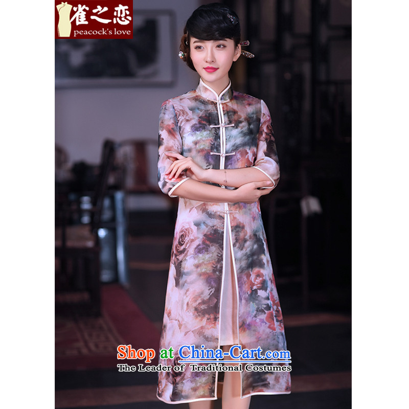 Love of birds such as clouds flower?spring 2015 the new Chinese Tang dynasty two kits Ms. Tang blouses jacket QC628 figure?M