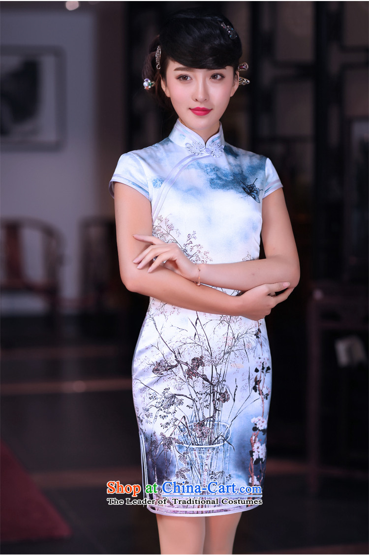 Love of birds spend before Mao聽Spring 2015 new improved cheongsam dress Silk Cheongsam short qipao QD662 dead wood it takes a聽picture, prices, XXL brand platters! The elections are supplied in the national character of distribution, so action, buy now enjoy more preferential! As soon as possible.