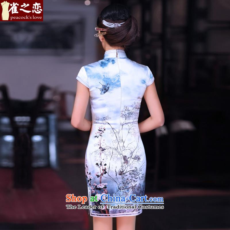 Love of birds spend before Mao聽Spring 2015 new improved cheongsam dress Silk Cheongsam short qipao QD662 dead wood it takes to聽love of birds XXL, shopping on the Internet has been pressed.