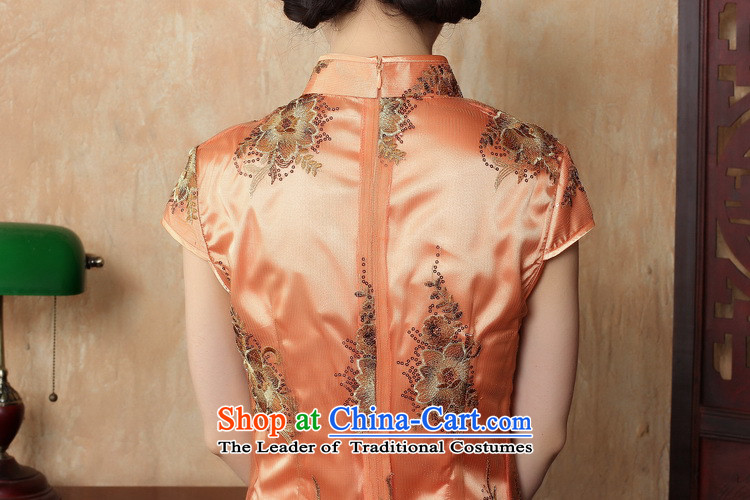Figure for summer flowers cheongsam dress new Chinese improved collar lace short qipao stylish elegance Sau San cheongsam dress figure color M brand, prices, picture platters! The elections are supplied in the national character of distribution, so action, buy now enjoy more preferential! As soon as possible.