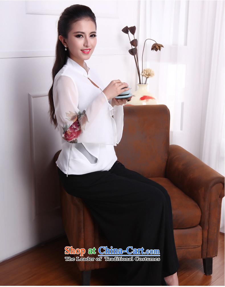 Bong-migratory 7475 Emily so a new summer 2015 stylish shirt qipao chiffon horn cuff Chinese T-shirt DQ1538 white S picture, prices, brand platters! The elections are supplied in the national character of distribution, so action, buy now enjoy more preferential! As soon as possible.