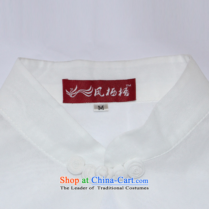 Bong-migratory 7475 Emily so a new summer 2015 stylish shirt qipao chiffon horn cuff Chinese T-shirt DQ1538 white S, Bong-migratory 7475 , , , shopping on the Internet