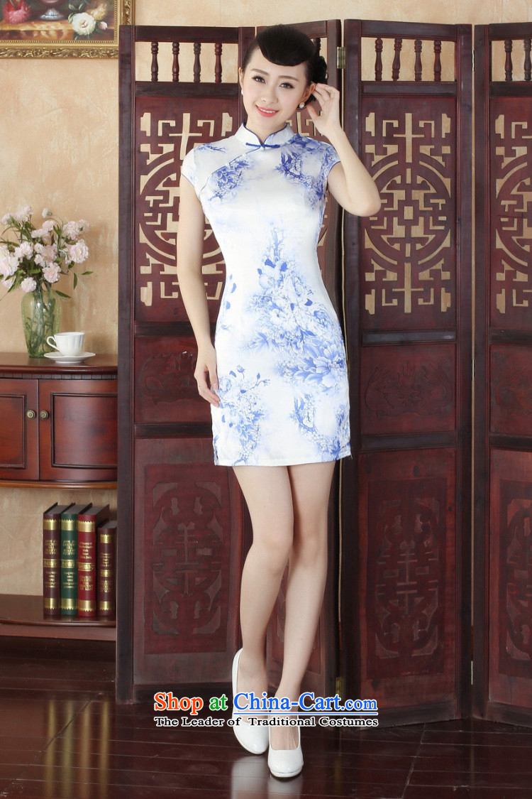 Dan smoke qipao summer new Tang Dynasty Chinese Women's improved collar stamp cheongsam dress is cut qipao figure color聽M brand, prices, picture platters! The elections are supplied in the national character of distribution, so action, buy now enjoy more preferential! As soon as possible.