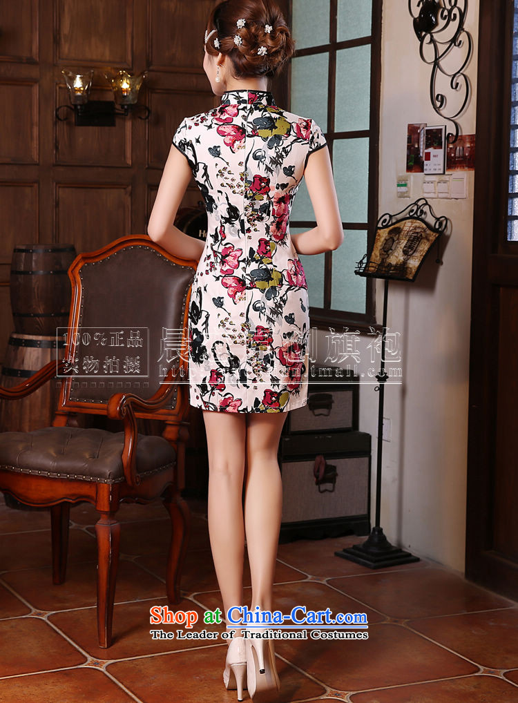 Land 2015 summer morning new Stylish retro short of improved cheongsam dress Chinese Daily,red聽XXL picture, prices, brand platters! The elections are supplied in the national character of distribution, so action, buy now enjoy more preferential! As soon as possible.