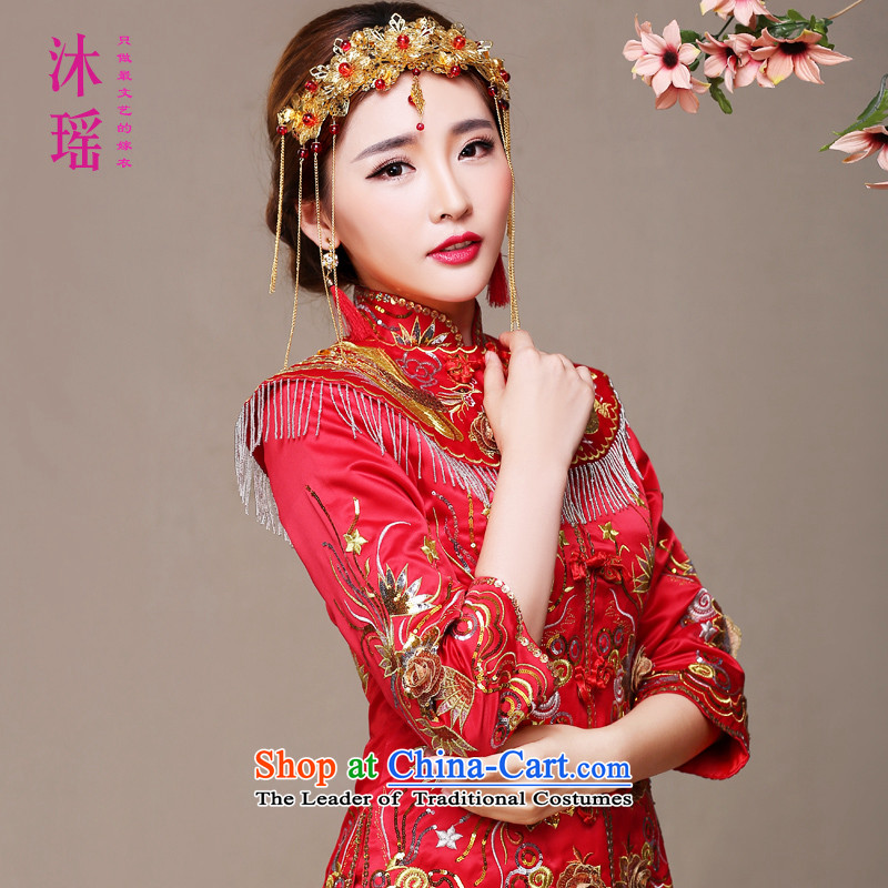 Bathing in the same 2015 angelbaby Yao New Sau Wo Service bridal dresses Soo kimono costume marriage solemnisation Chinese dragon and high-end use red XL chest 97CM