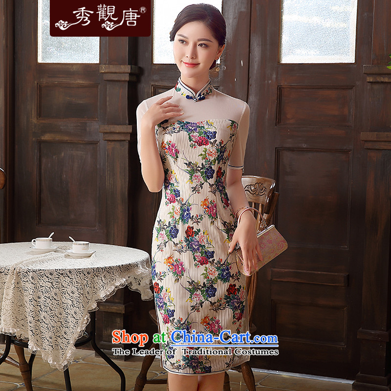 -Sau Kwun Tong- spend fang 2015 Summer new daily sexy cheongsam dress stylish improved dresses QD5101 SUIT燬