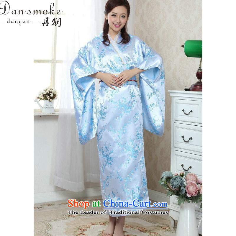 Dan smoke kimono Chinese Women's improved new Tang dynasty cheongsam long damask stamp retro national theatrical performances will illuminate clothing