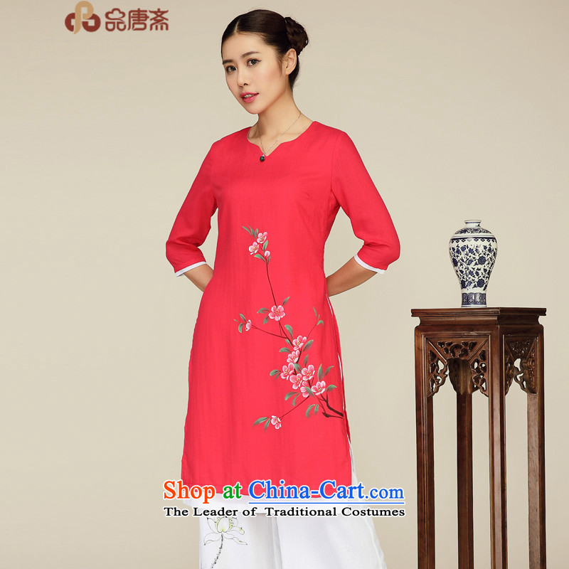 No. of Ramadan spring and summer Tang New 2015 National wind cuff two fake antique Tang Women's clothes in red L