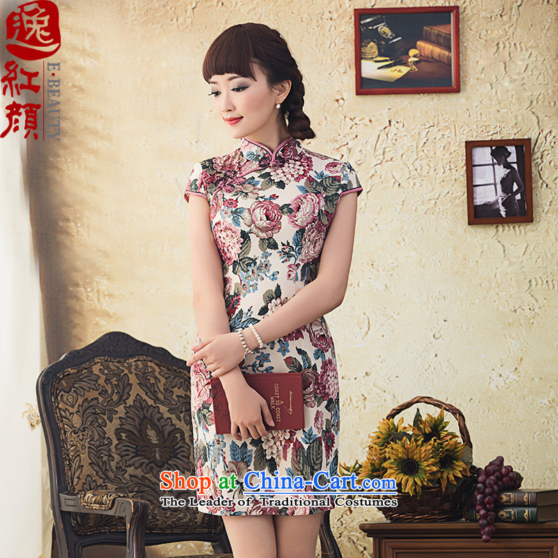 Splendid Spring New cheongsam dress Stylish retro republic of korea wind Sau San qipao suit聽S