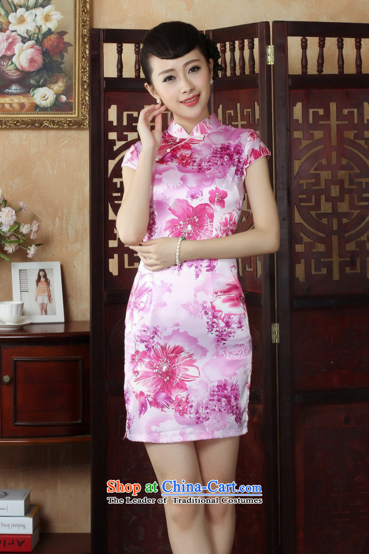 Dan smoke CHINESE CHEONGSAM summer Tang dynasty qipao retro collar is pressed to improve women's mini cheongsam) as shown in Figure short-color聽pictures, prices, S brand platters! The elections are supplied in the national character of distribution, so action, buy now enjoy more preferential! As soon as possible.