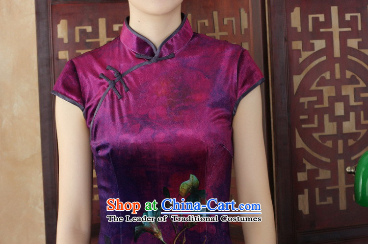 Dan smoke everyday cheongsam dress summer new Chinese improved hand-painted silk cheongsam stylish beauty Kim short qipao figure color聽L picture, prices, brand platters! The elections are supplied in the national character of distribution, so action, buy now enjoy more preferential! As soon as possible.
