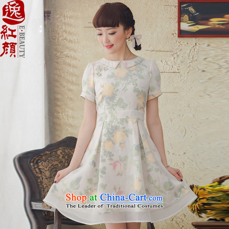 A Pinwheel Without Wind faintly Park Il� 2015 new ethnic arts dress spring and summer retro female skirts Bluetooth color�XL