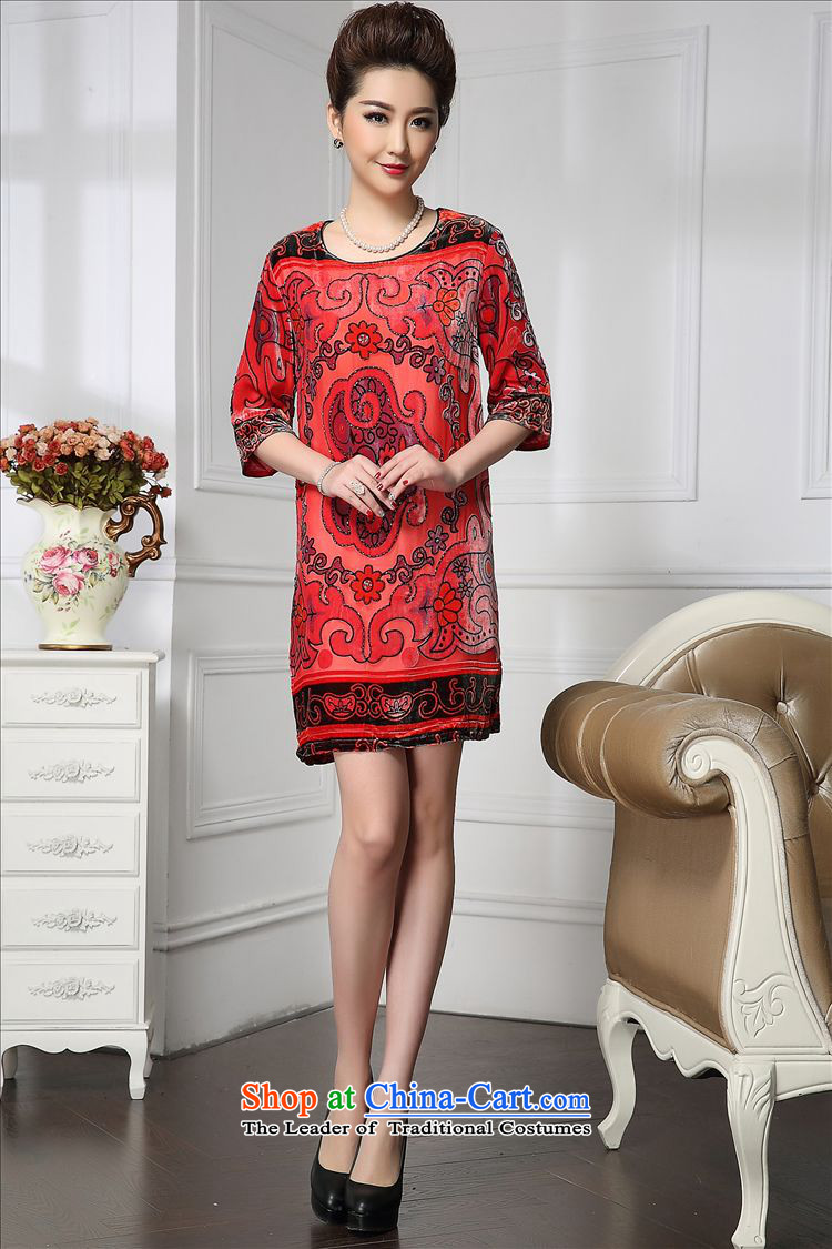 Forest narcissus spring and autumn 2015 Install new staple pattern pearl retro Tang Dynasty Silk Cheongsam with mother stitching sauna silk velvet dresses HGL-653 retro pattern聽XXXL picture, prices, brand platters! The elections are supplied in the national character of distribution, so action, buy now enjoy more preferential! As soon as possible.