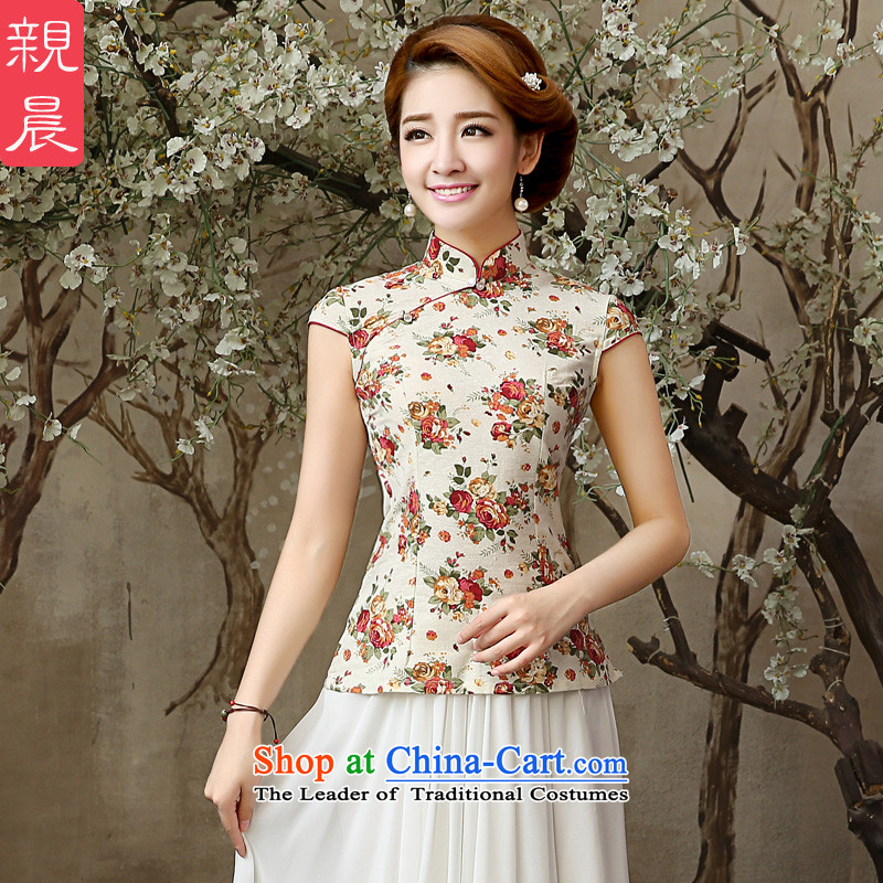 銆� pro-am as soon as possible the new summer day-to-day 2015 Cotton Women's stylish ethnic retro qipao shirt shirts Sau San聽L