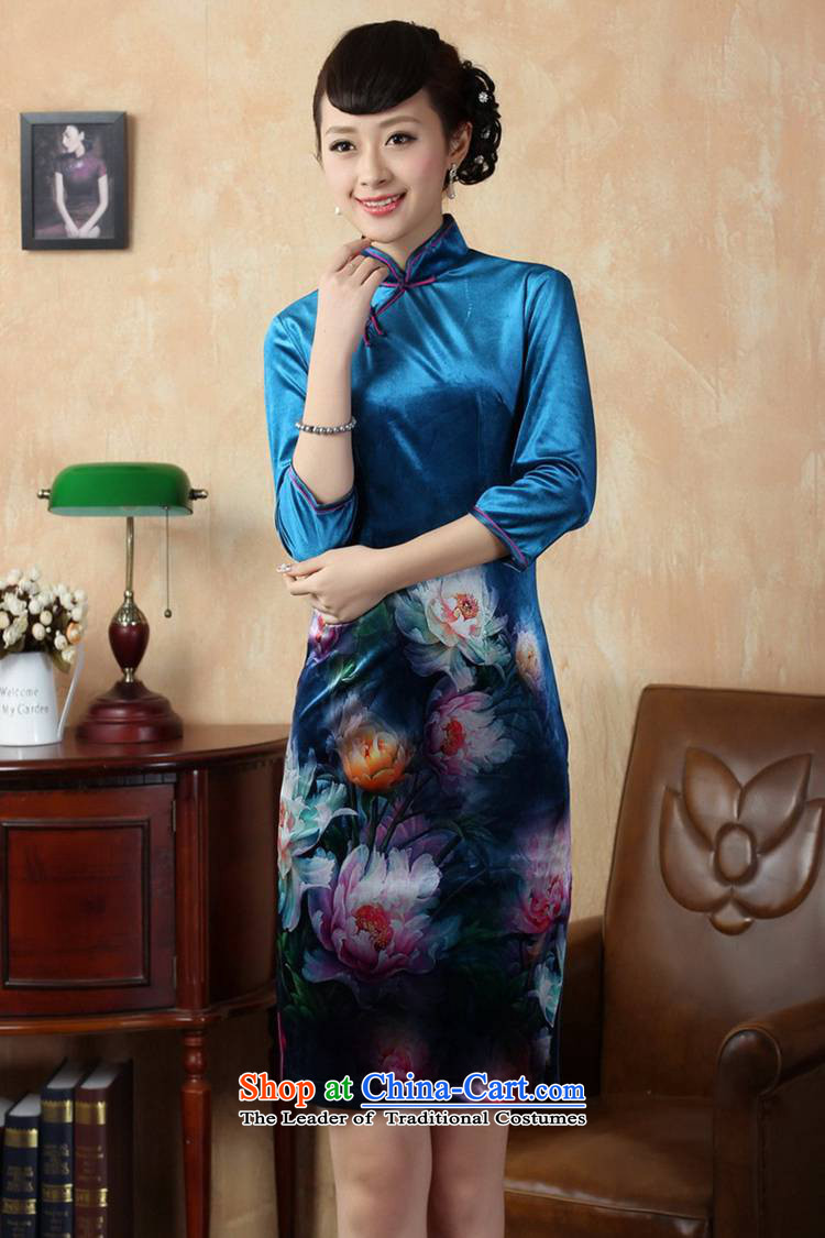 In accordance with the new fuser for women retro improved Tang dynasty qipao Stretch Wool poster stylish Kim Classic 7 short-sleeved cheongsam dress聽LGD/TD0008#聽figure聽XL Photo, prices, brand platters! The elections are supplied in the national character of distribution, so action, buy now enjoy more preferential! As soon as possible.