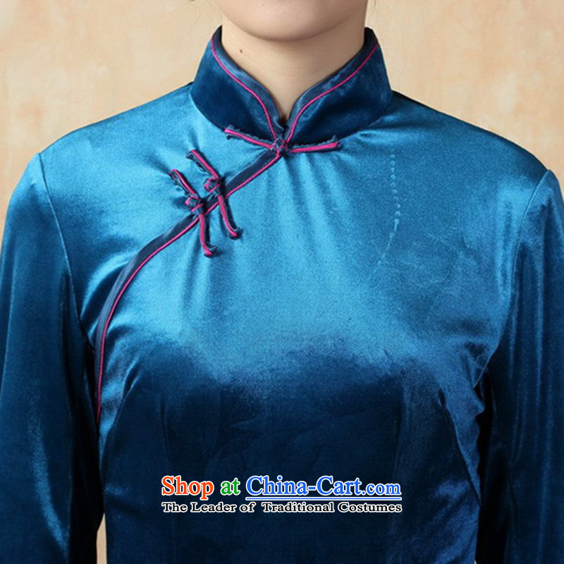 In accordance with the new fuser for women retro improved Tang dynasty qipao Stretch Wool poster stylish Kim Classic 7 short-sleeved cheongsam dress聽LGD/TD0008#聽聽XL, in accordance with the fuser as shown in Figure , , , shopping on the Internet
