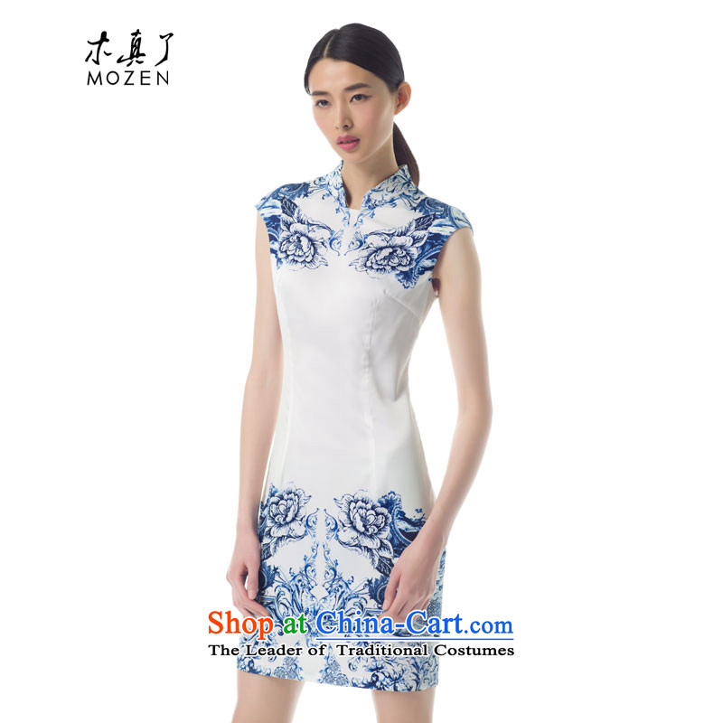The women's true   2015 spring_summer load new porcelain short of Qipao Stamp Sau San stylish girl skirt 42846 02 pure white燬