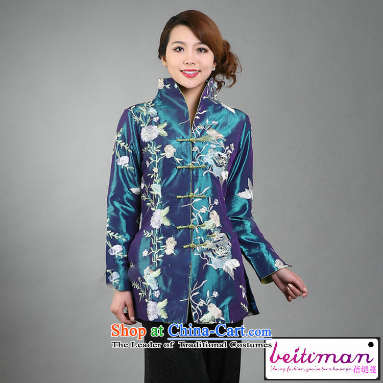 Ms. Arbour, Mrs Ingrid Yeung as fine embroidery women can reverse collar Tang dynasty long-sleeved wind jacket orange聽XL Photo, prices, brand platters! The elections are supplied in the national character of distribution, so action, buy now enjoy more preferential! As soon as possible.