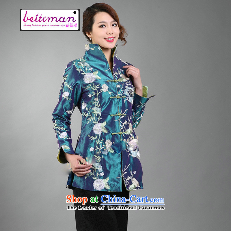 Ms. Arbour, Mrs Ingrid Yeung as fine embroidery women can reverse collar Tang dynasty long-sleeved wind jacket orange聽XL, Mrs Ingrid Yeung economy Overgrown Tomb , , , shopping on the Internet