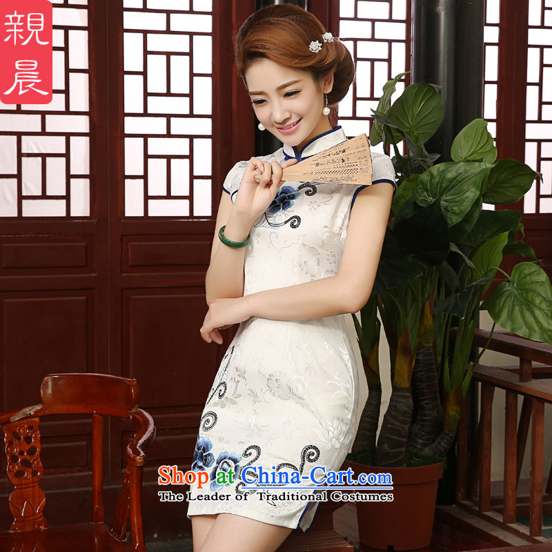 The elections as soon as possible the new 2015 pro-morning of daily short of summer in Sau San retro ethnic cheongsam dress dresses short-sleeved�L