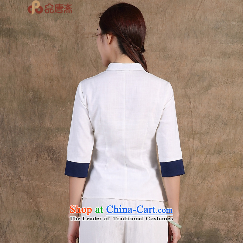 No. Tang Spring Ramadan 2015 New China wind original hand-painted 7 cuff improved qipao shirt Han-women's pre-sale) May 15, white goods, Tang Ramadan , , , shopping on the Internet