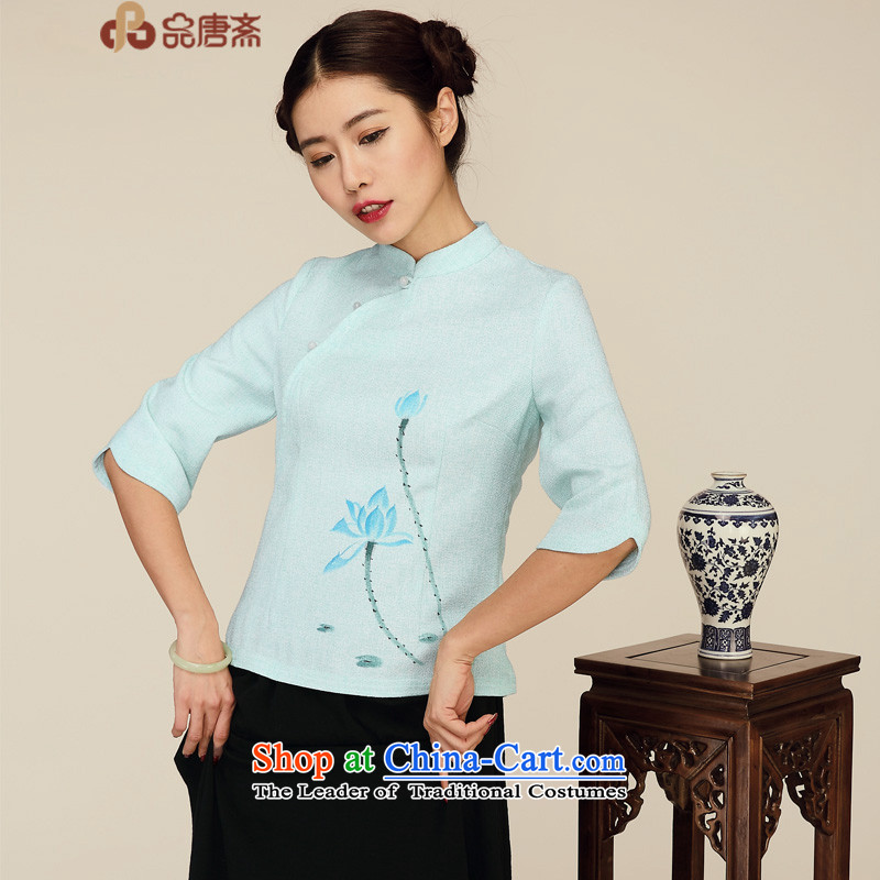 No. Tang Spring Ramadan New 2015 original designs in Sau San Tong Chinese Women's Sleeveless T-shirt with light green�L
