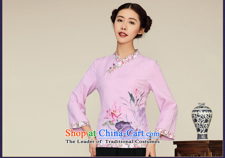 No. of Ramadan 2015 spring outfits Tang new ethnic 2015 cotton linen long-sleeved shirt qipao Sau San Chinese antique light purple聽S picture, prices, brand platters! The elections are supplied in the national character of distribution, so action, buy now enjoy more preferential! As soon as possible.