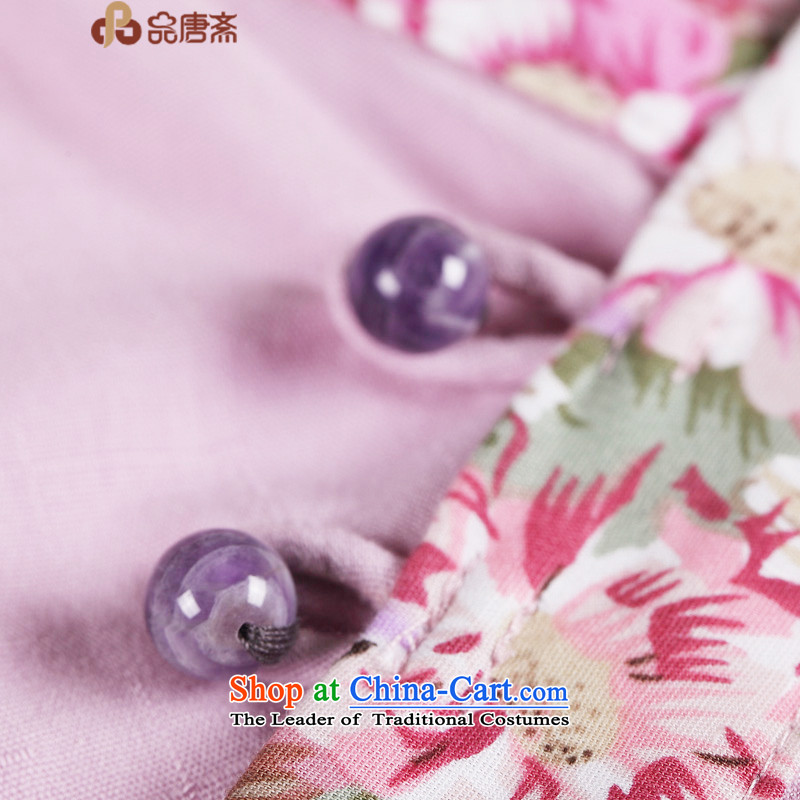 No. of Ramadan 2015 spring outfits Tang new ethnic 2015 cotton linen long-sleeved shirt qipao Sau San Chinese antique light purple聽S products Tang Ramadan , , , shopping on the Internet