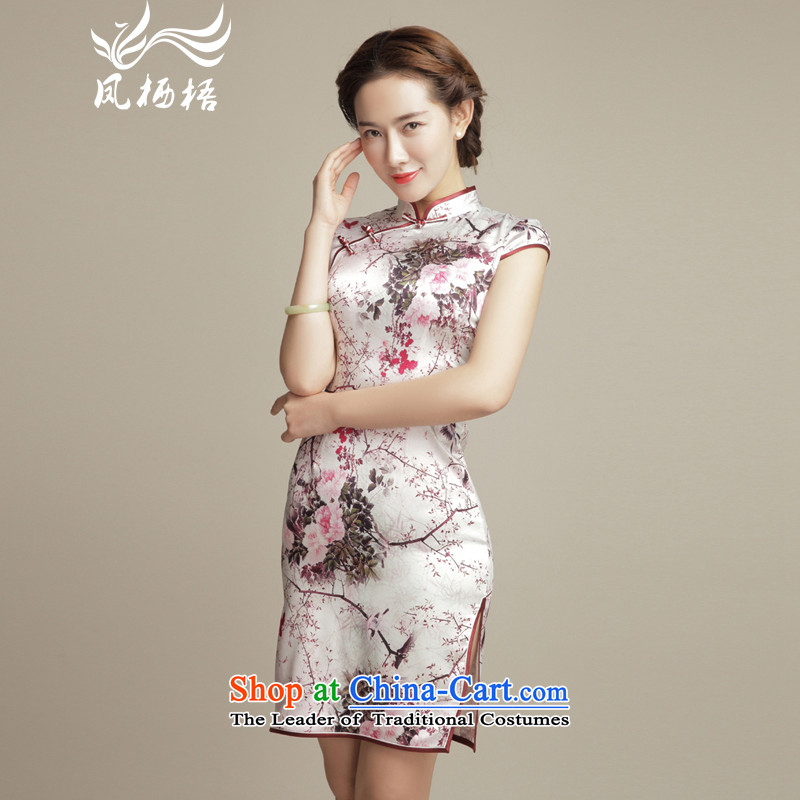 Bong-migratory Wing Chun 2015 Summer of 7475 New Silk Cheongsam look elegant qipao gown daily herbs extract DQ1559 SUIT?L