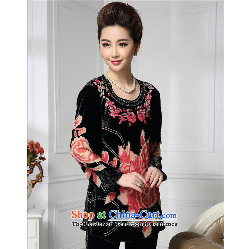 Forest narcissus spring and autumn 2015 Install New Small Flower nail pearl petticoats half Tang dynasty mother replacing silk stitching herbs extract lint-free t-shirt color picture HGL-478?XL