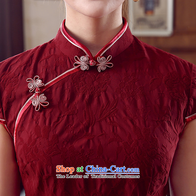 [Sau Kwun Tong] Following 2015 Summer yen Tang Tang dynasty blouses, improved Chinese BLOUSES BOURDEAUX聽XL, Sau Kwun Tong shopping on the Internet has been pressed.