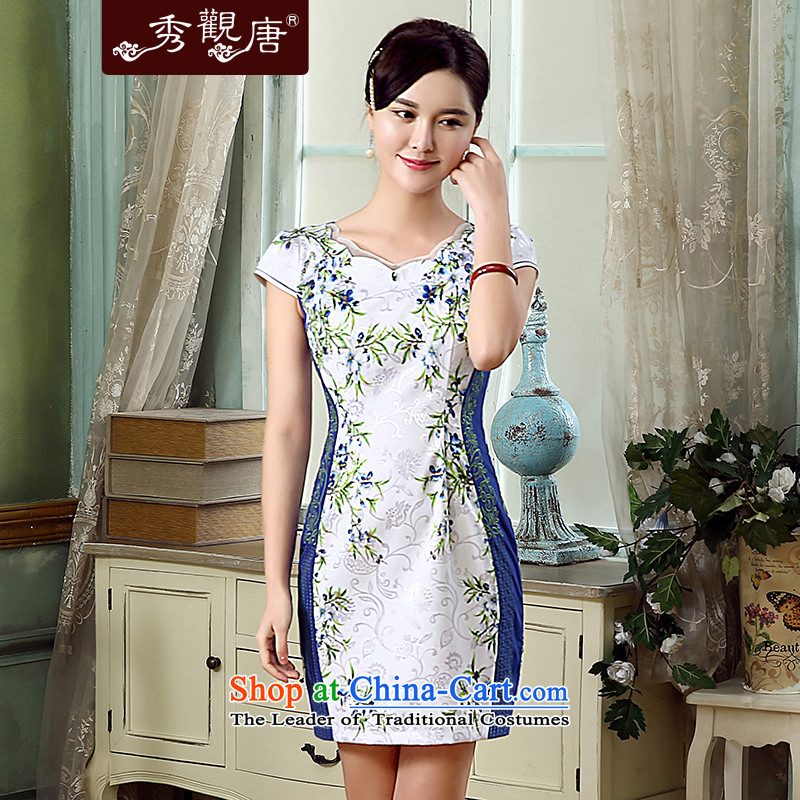 -Sau Kwun Tong Hong Kong sticks summer- new cheongsam�15 improved Stylish retro embroidery dresses KD5314 Suit燤