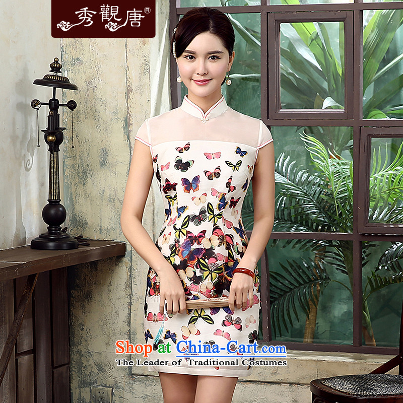 -Sau Kwun Tong- withdrawal of the sphenoid Summer 2015 New Silk yarn qipao eugen duerrwachter improved Stylish retro QD5310 Suit?M