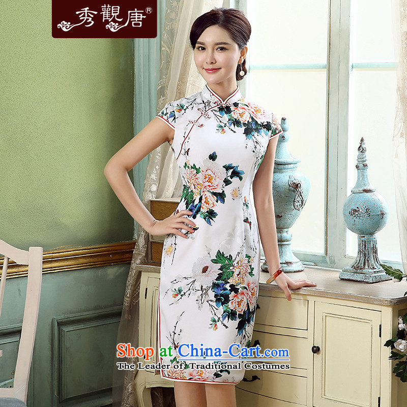 [Sau Kwun Tong] Mudan removals by sinks new stamp qipao 2015 skirt summer improved Stylish retro qipao QD5311 SUIT?S
