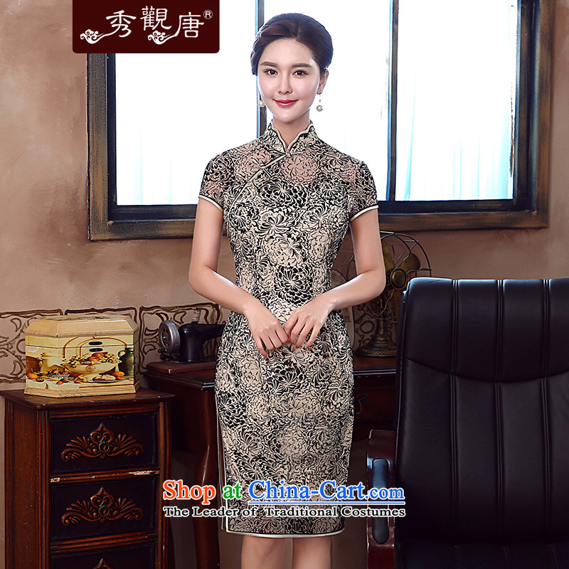 -Sau Kwun Tong- spent summer's 2015 new daily retro qipao improved stylish dresses QD5333 SUIT?XXL