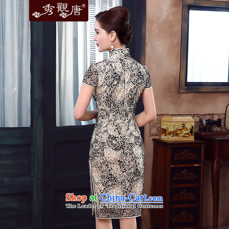 [Sau Kwun Tong] spent summer's 2015 new daily retro qipao improved stylish dresses QD5333聽XXL, Sau Kwun Tong suit shopping on the Internet has been pressed.