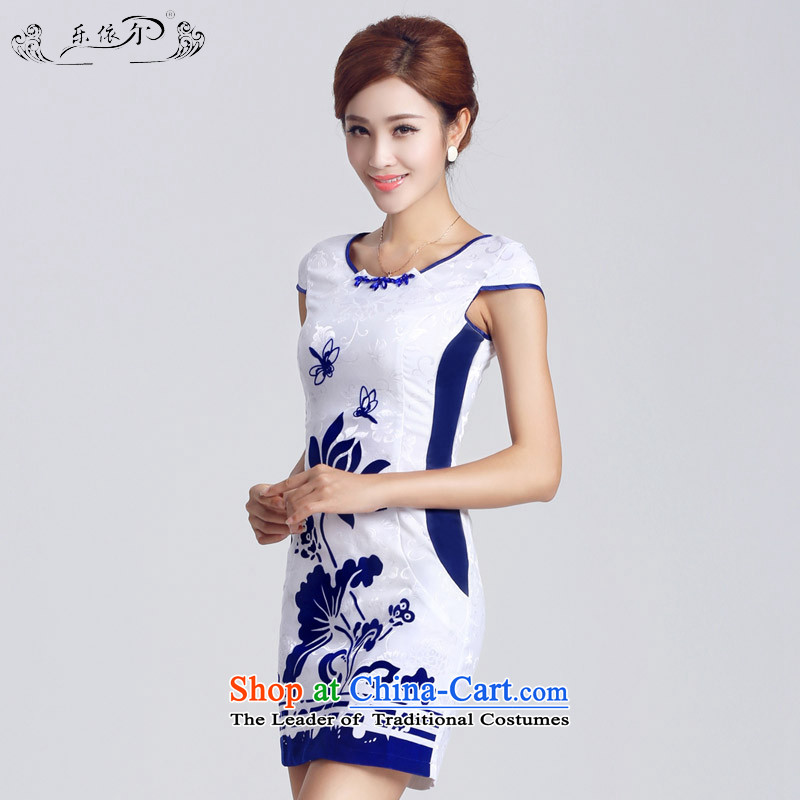 According to the women's America new women's dresses improved female short skirt elegant furnished in a classic style qipao_ Daily燣YE33302燱hite燲XL
