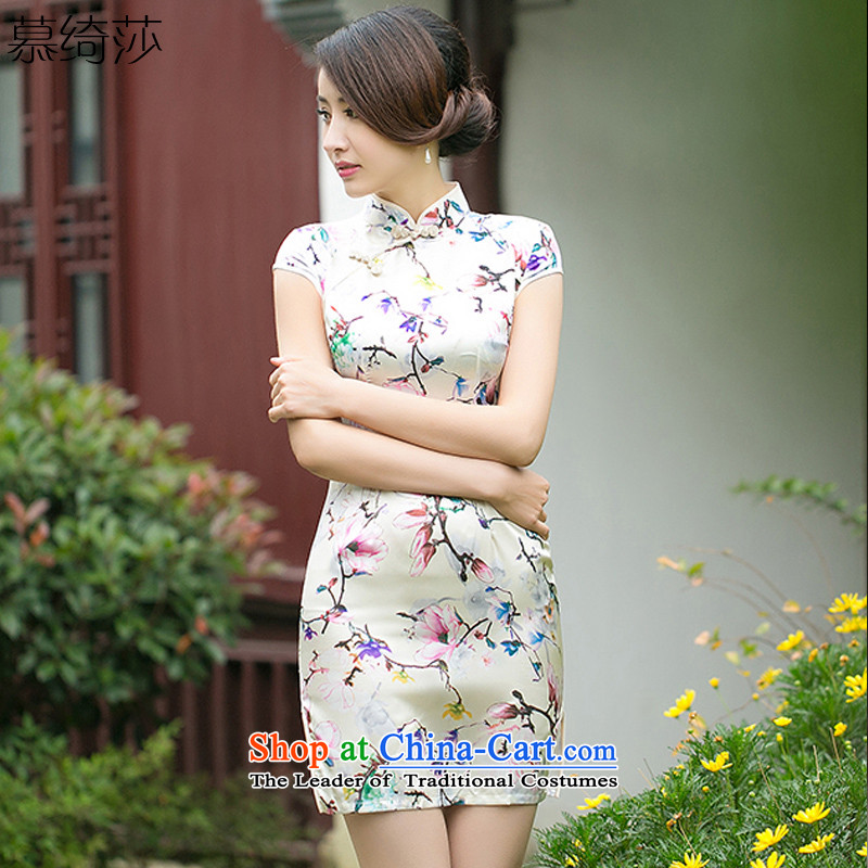 The cross-sa, so the new summer daily improved cheongsam dress up the clip opened manually cheongsam dress Ms.'s qipao?ZA 051?suit?XL