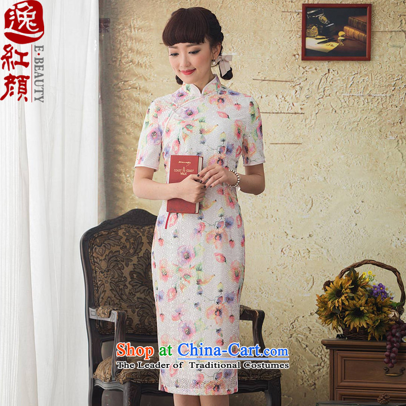 A Pinwheel Without Wind Butterflies-Yuk Yat long qipao improvement in spring and autumn 2015 Stamp new stylish cheongsam dress retro-day Suit?M