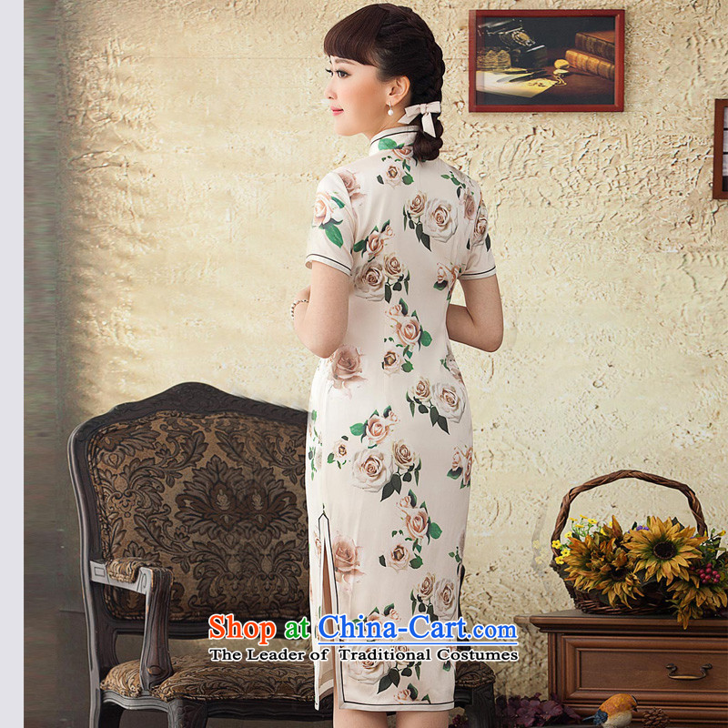 A Pinwheel Without Wind poem was really Yat Silk Cheongsam improved long summer 2015 spring outfits of the Republic of Korea cheongsam dress Daily White聽XL, Yat Lady , , , shopping on the Internet