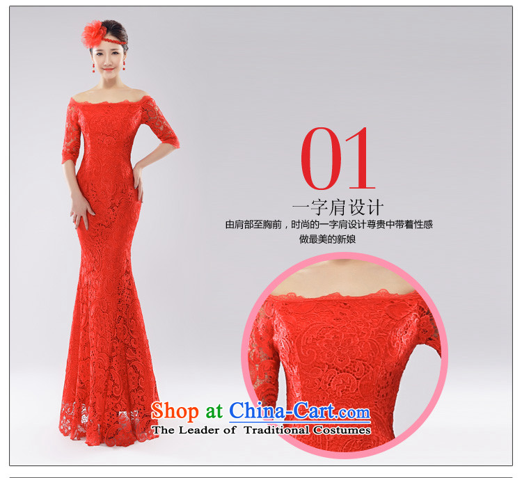 (Heung-lun's Health 2015 Spring/Summer new bride bows services improved qipao Stylish retro red lace a field shoulder straps qipao Sau San Red聽L picture, prices, brand platters! The elections are supplied in the national character of distribution, so action, buy now enjoy more preferential! As soon as possible.