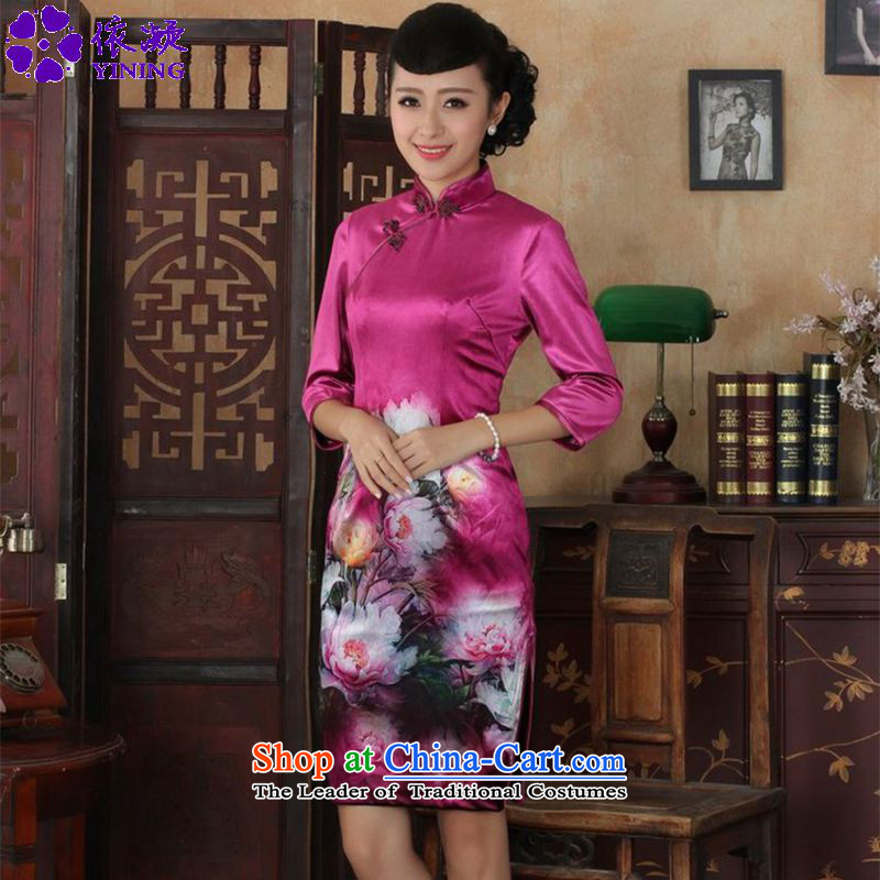 In accordance with the fuser trendy new for women retro ethnic improved Tang dynasty qipao Kim scouring pads 7 cuff cheongsam dress聽LGD_TD0035_ Sau San聽figure聽L