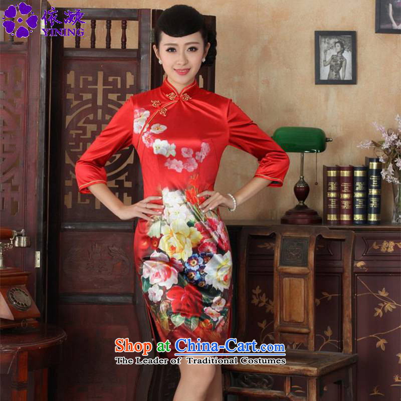 In accordance with the fuser trendy new for women cheongsam ethnic Kim scouring pads poster Sau San 7 cuff cheongsam dress?LGD/TD0033#?figure?S