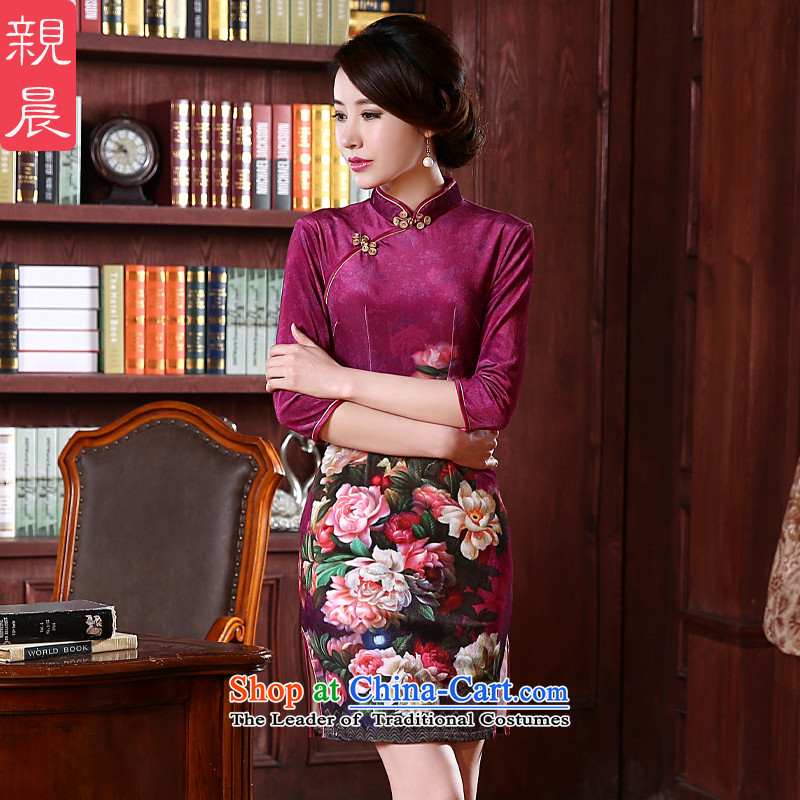 At 2015 new pro-wedding-dress cheongsam dress autumn summer upscale Kim scouring pads improved mother load short of stylish�2XL