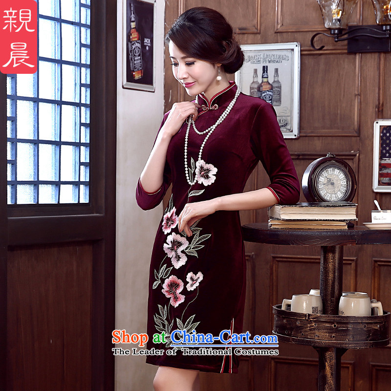 At 2015 new pro-wedding cheongsam dress fall short of summer scouring pads in the mother Kim older short,?XL