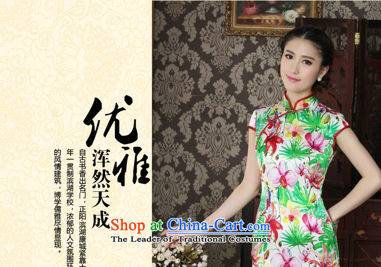 Dan smoke Silk Cheongsam improvement of Chinese women's Mock-neck herbs extract beautiful summer day-to-day banquet style qipao qipao figure color L picture, prices, brand platters! The elections are supplied in the national character of distribution, so action, buy now enjoy more preferential! As soon as possible.