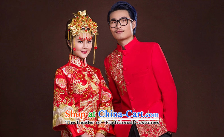 The new 2015 Luang Sau Wo Service Soo kimono dragon use Chinese wedding dresses retro bride bows services lace luxury petticoats聽M picture, prices, brand platters! The elections are supplied in the national character of distribution, so action, buy now enjoy more preferential! As soon as possible.